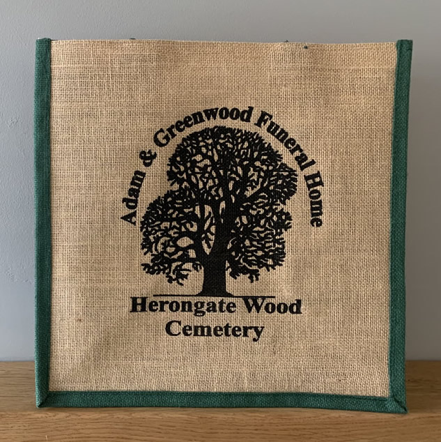Small Jute Bag with Printed Logo