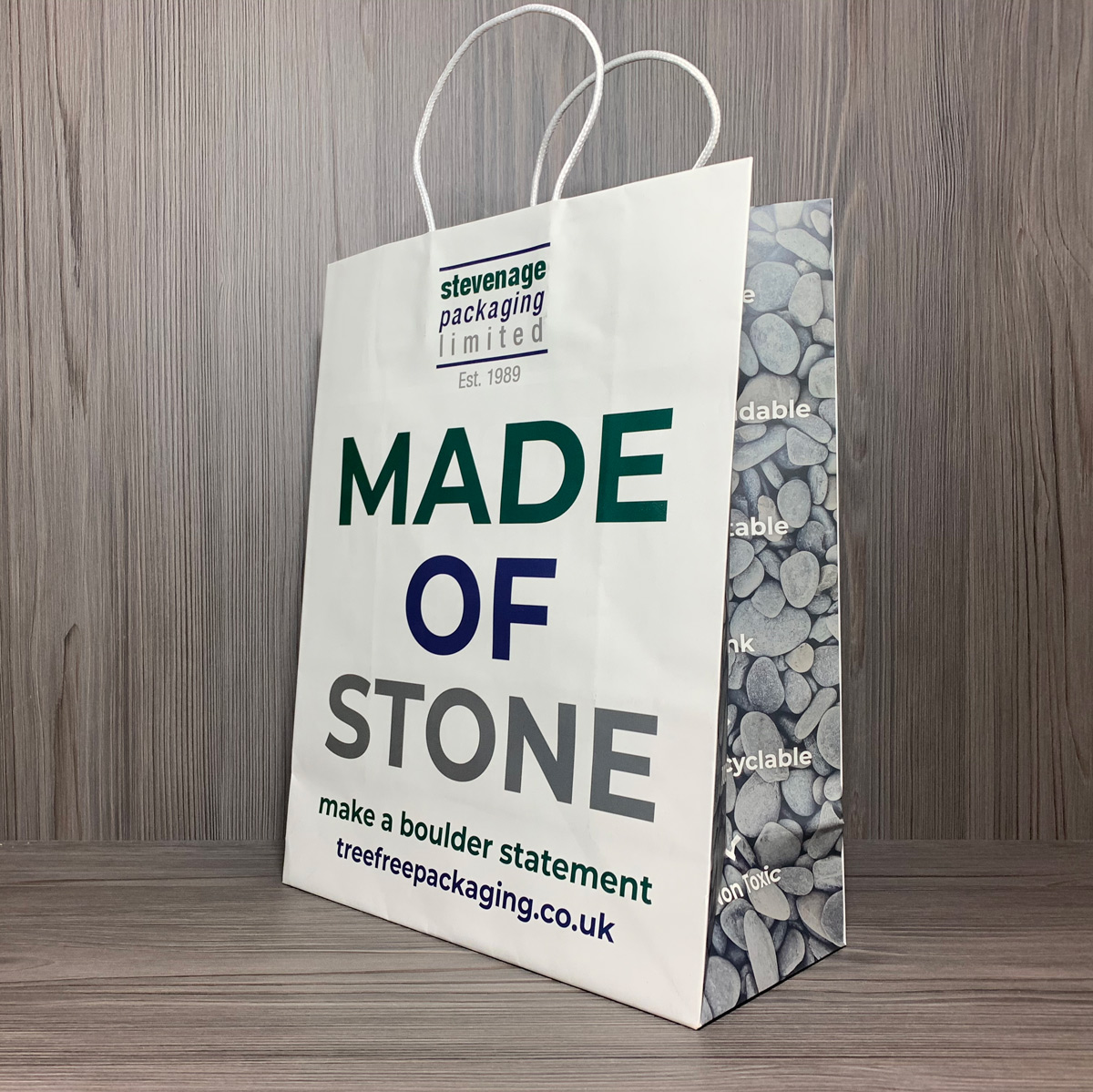 Stone Paper Bag Collage