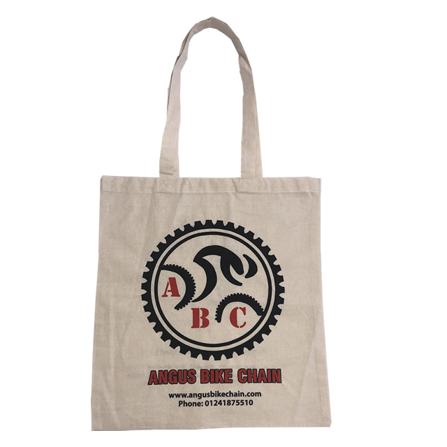 Canvas bag with bold logo