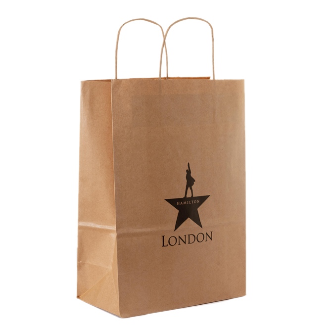 Kraft Paper Bag with Black Logo