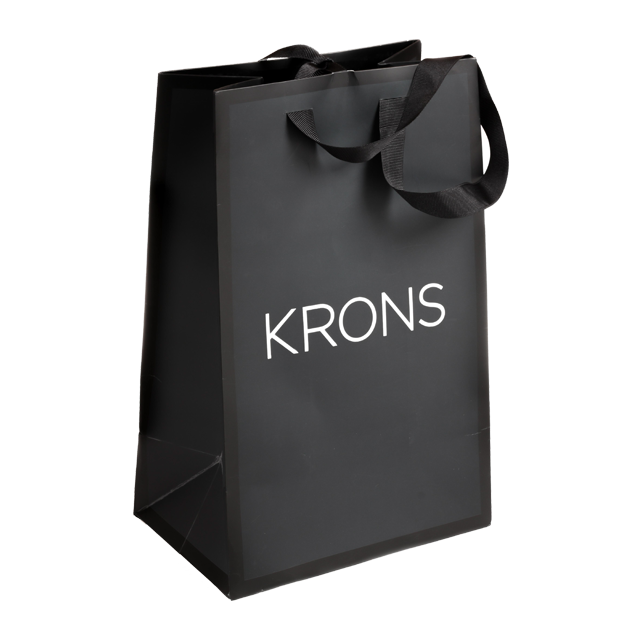 Black Full Print Small Luxury Gift Bag