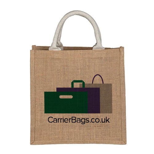 Small Jute Bag with Logo
