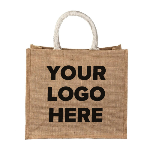 Medium Jute Bag with Space for Logo
