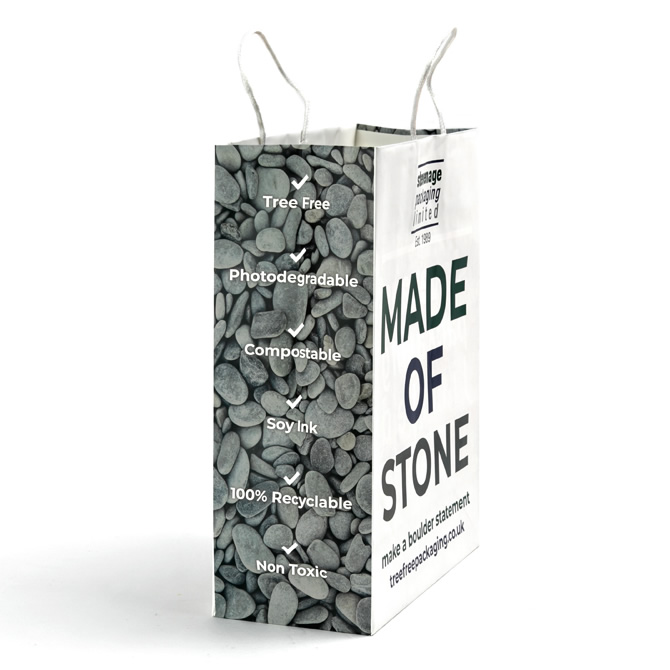 Side of Stone Paper Bag