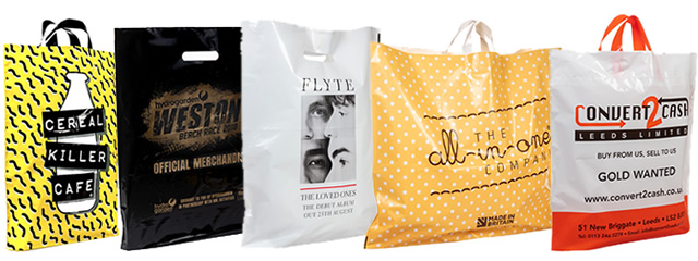 A selection of our plastic carrier bags