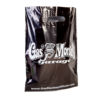 Flood Printed Black Carrier Bag