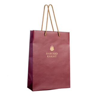 Printed Burgundy Carrier Bag