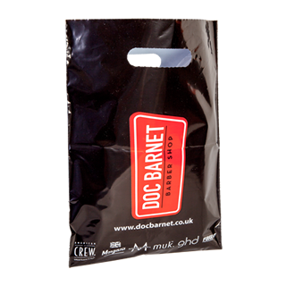 Black Polythene Carrier Bag