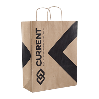 Brown Kraft Paper Carrier Bag