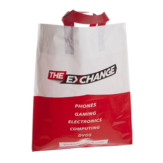 Two Colour Flexiloop Handle Carrier Bag