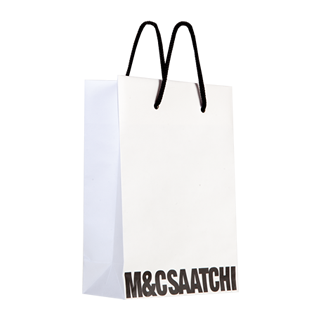 Printed White Carrier Bag