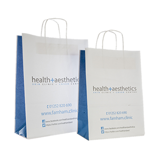 Two Colour Paper Carrier Bag with Plain Sides