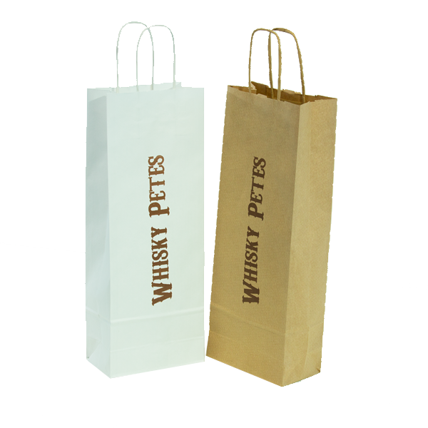 Printed Wine Bottle Carrier Bag