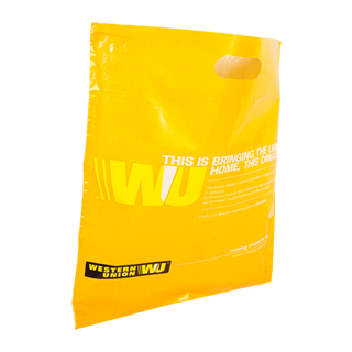 Yellow Custom Plastic Carrier Bag