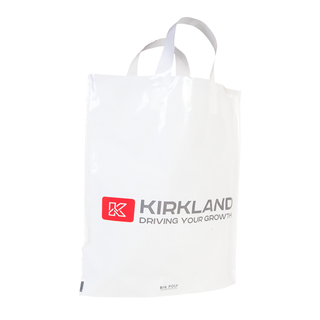 Printed Flexiloop Polythene Bags delivered quickly in days