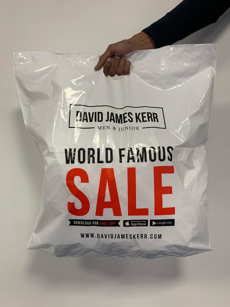 printed sale branded carrier bag