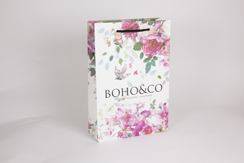 Bespoke printed luxury matt laminated gift bag